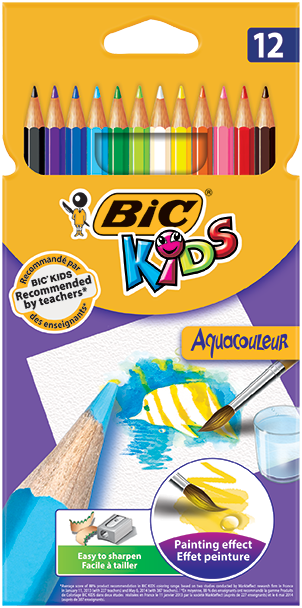 AQUACOULEUR™ colouring pencils 12 colors