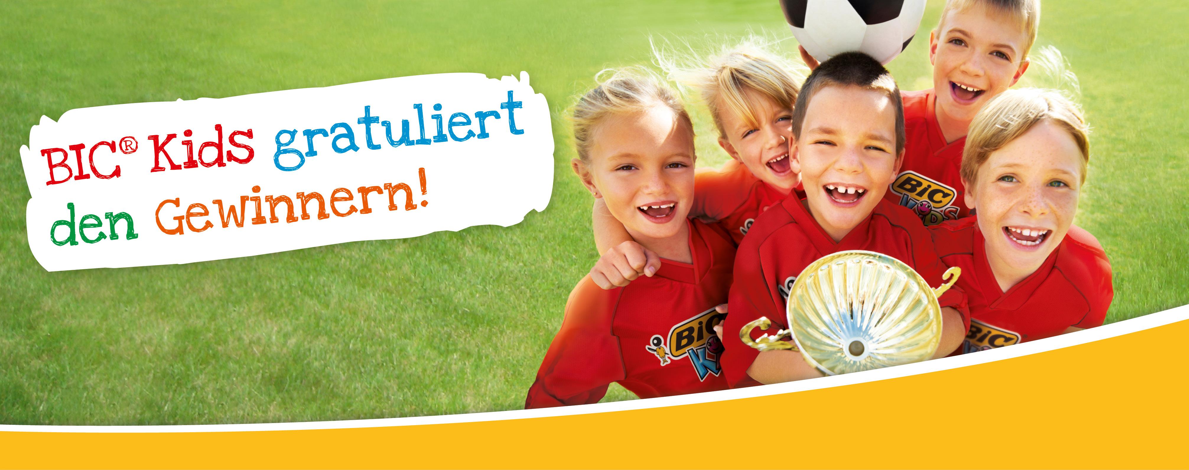 BIC Kids Fussball-Trikotsatz-Verlosung