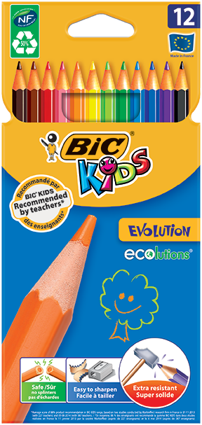 ECOLUTIONS™ EVOLUTION™ colouring pencils 12 colors
