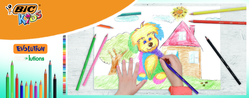 BIC Kids, online coloring and learning activities