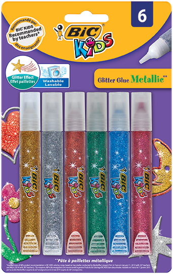 GLITTER GLUE art and crafts metallic colors
