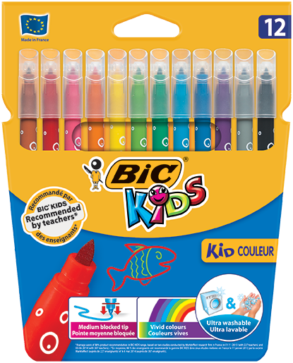 KID COULEUR felt pens 12 colors