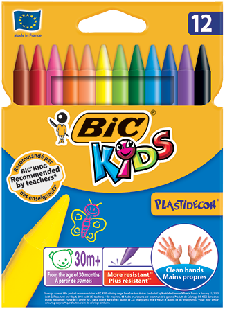 PLASTIDECOR® crayons 12 colors