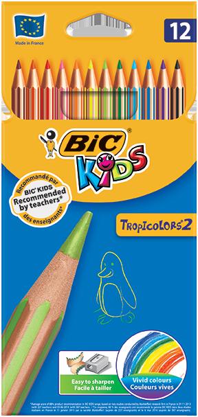 TROPICOLORS® 2 colouring pencils 12 colors