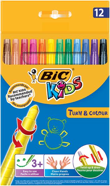 TURN & COLOUR wax crayons