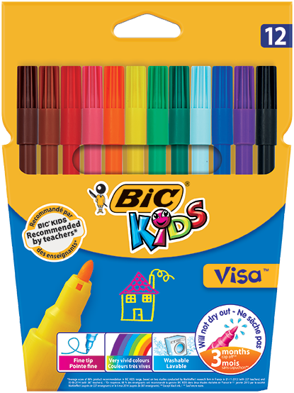 VISA™ felt pens 12 colors