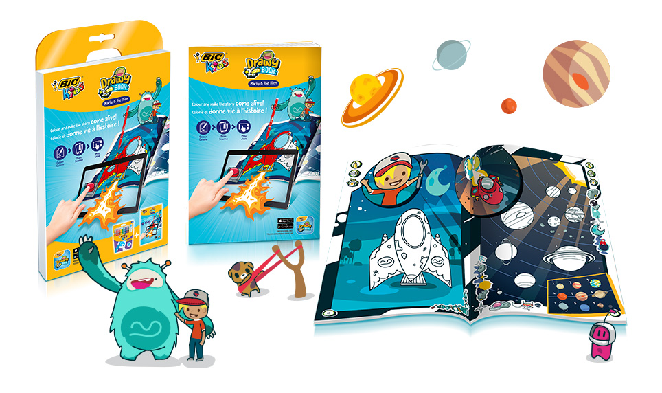 DISCOVER THE NEW BIC®KIDS DRAWYBOOK INTERACTIVE COLOURING BOOK